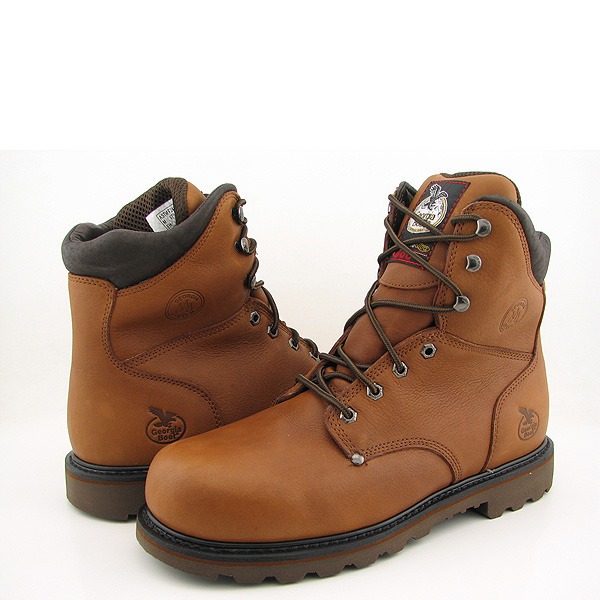 Post image for GEORGIA G8352 8″ Safety Toe 600G New Wide Boots Work Steel Toe Brown Mens