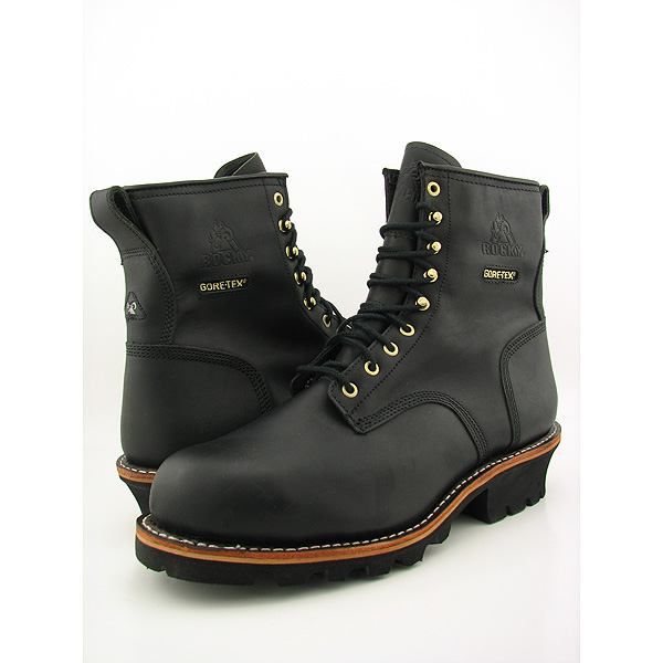 Post image for ROCKY 9″ Great Oak Logger Steel Toe Work Boots Shoes Black Mens