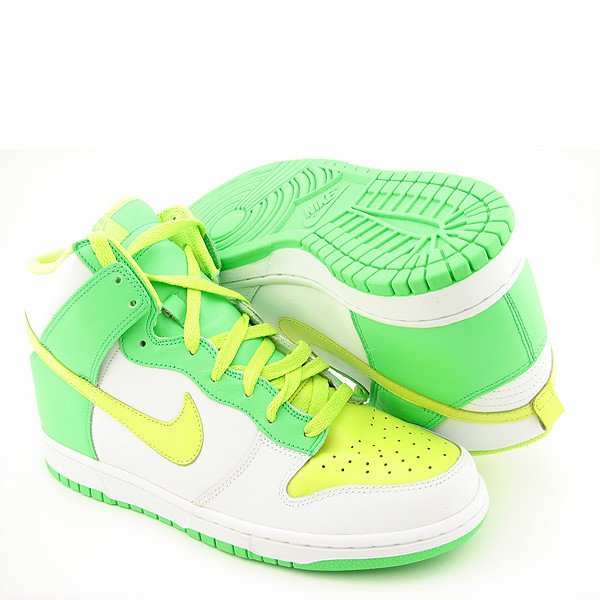 nike dunk lime green