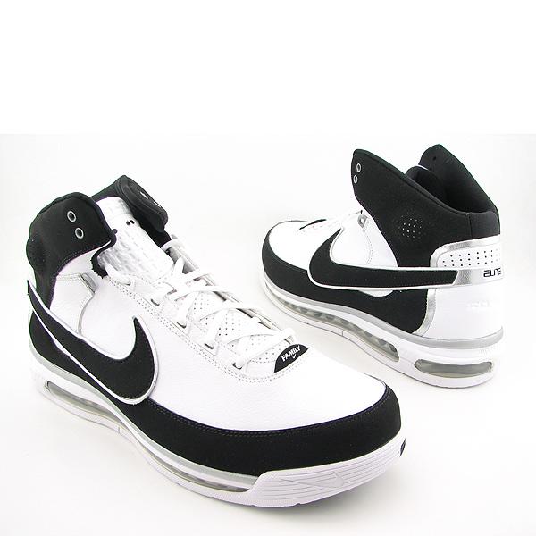 NIKE Air Max Elite II TB New Basketball, Black Shoes White Mens