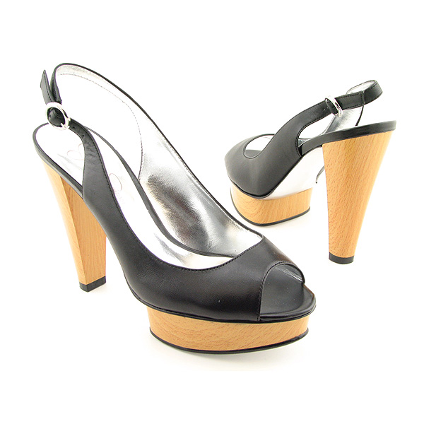 JESSICA SIMPSON Bonee Heels Pumps Shoes Black Womens