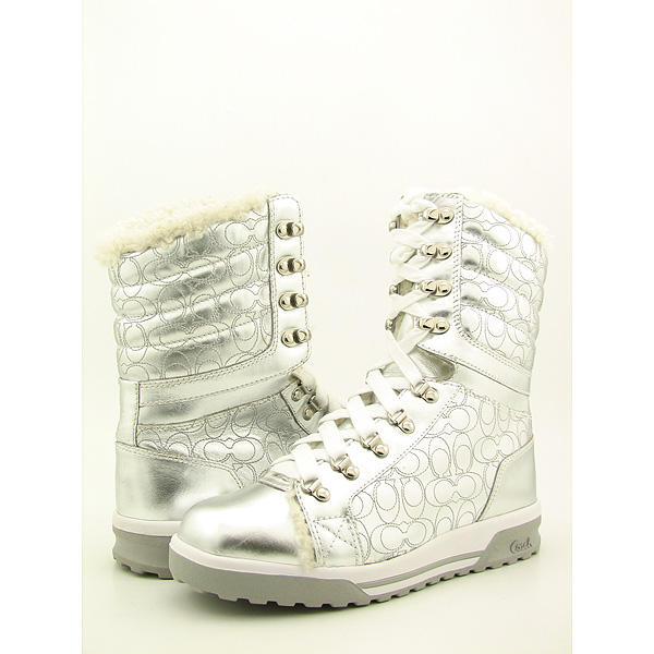 Post image for COACH Tallula Boots Shoes Silver Womens