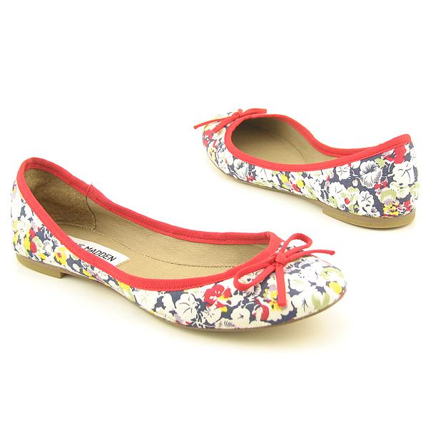 STEVE MADDEN Kappy Flats Shoes Blue, Navy Blue Womens