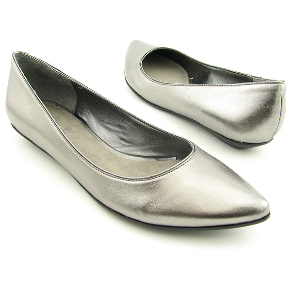 NINE WEST Naughty Flats Shoes Gray Womens