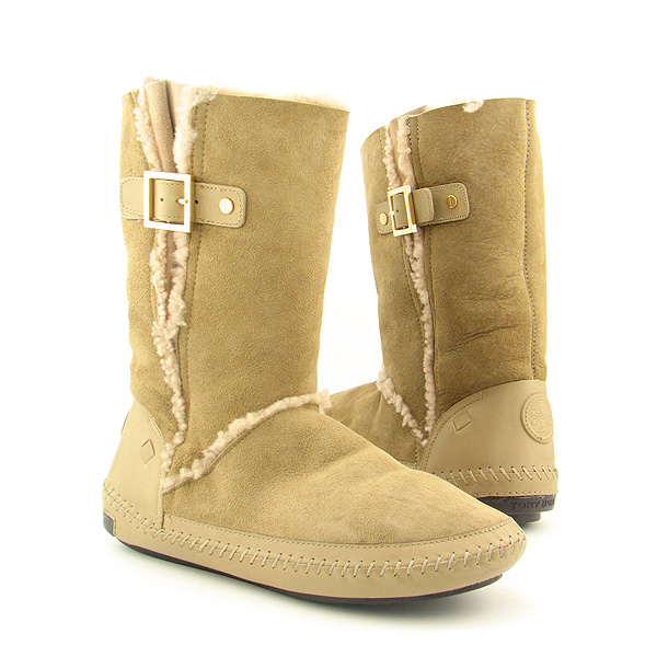 Post image for TORY BURCH Boho Buclke Boots Shoes Beige Womens