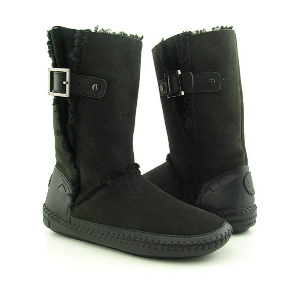 Post image for TORY BURCH Boho Buclke Boots Shoes Black Womens