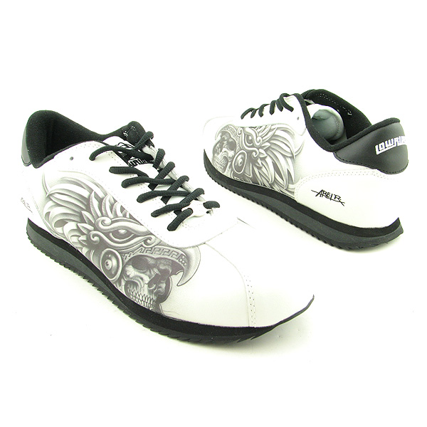Details about LOWRIDER FOOTWEAR Aztec Warrior White Shoes Mens 10.5