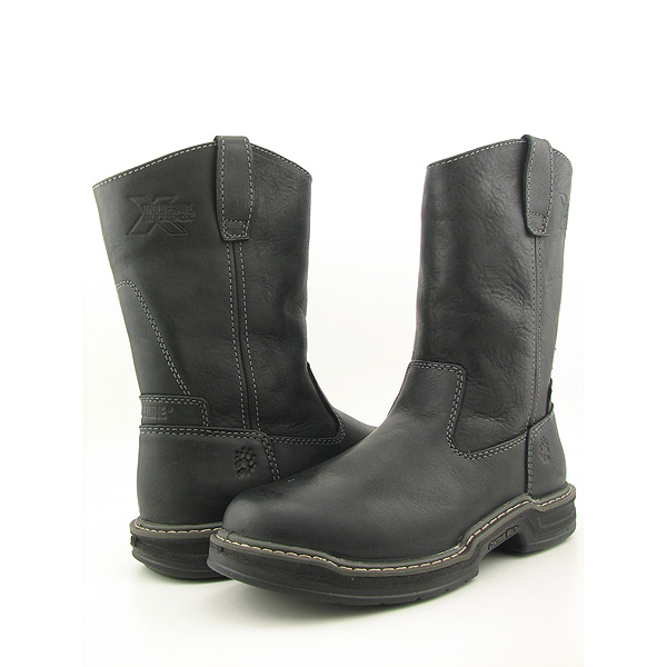 Post image for WOLVERINE Raider Contour Welt Well New X Wide Boots Work Shoes Black Mens