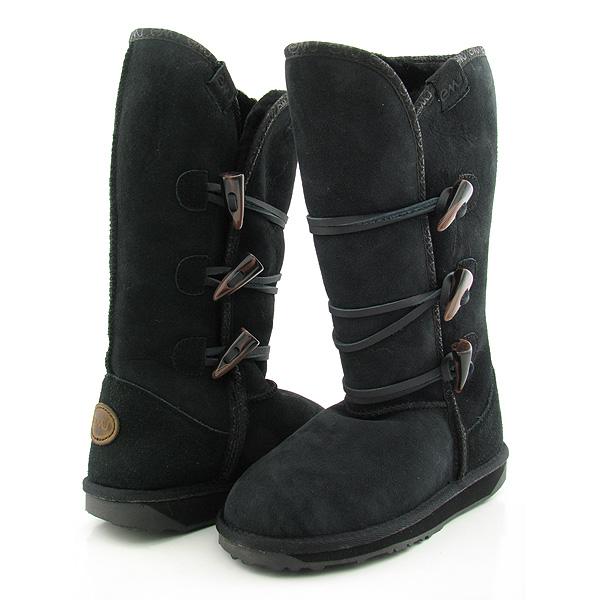 EMU AUSTRALIA Paddington Hi New Boots Shoes Black Womens