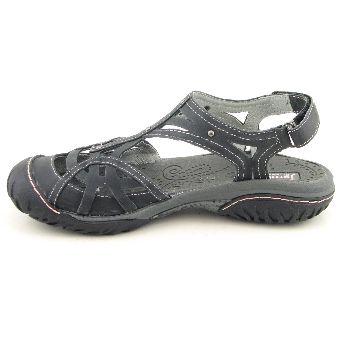 Details about JAMBU Coconut Black Sandals Shoes Womens Size 7