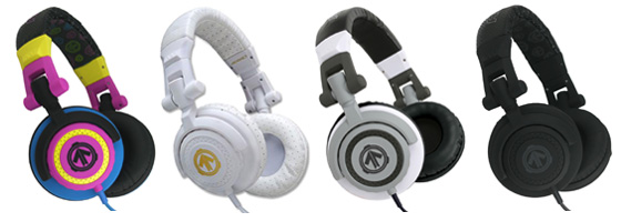 Aerial7 Tank headphones in storm, blizzard, shade and midnight