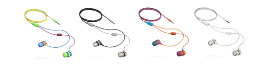 Aerial7 Sumo in-line microphone earphones in candy, shade, gaffiti and blizzard