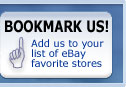 Bookmark us! add us to your list of ebay favorite stores