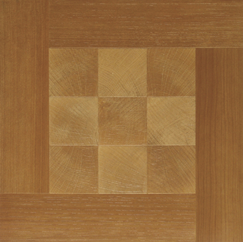 Wood Squares Vinyl Flooring 36 Pcs Adhesive Floor Tile