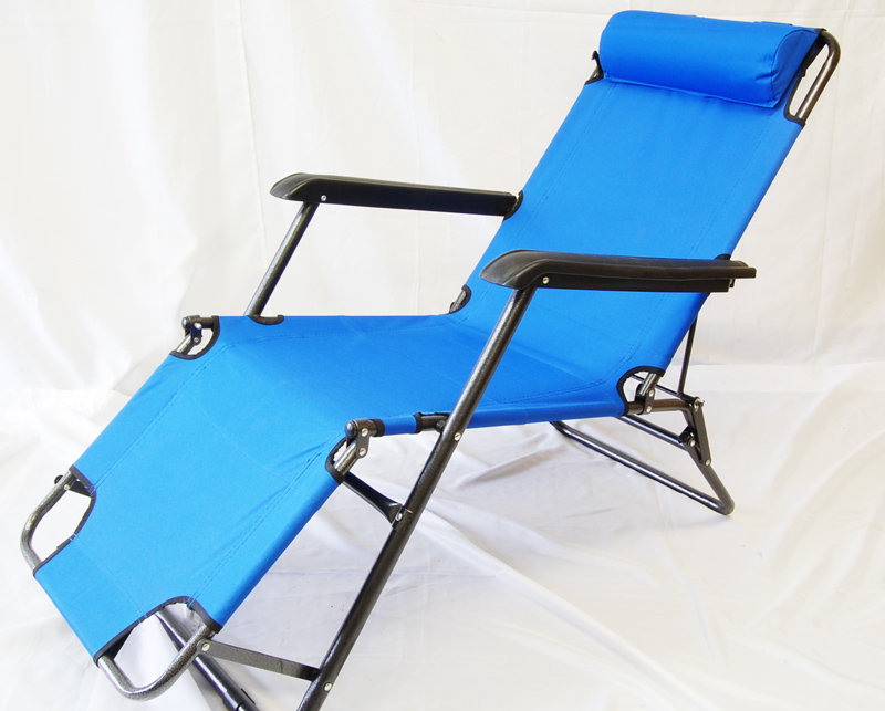 Chaise Lounge Chair Pool Beach Sunning w Pillow