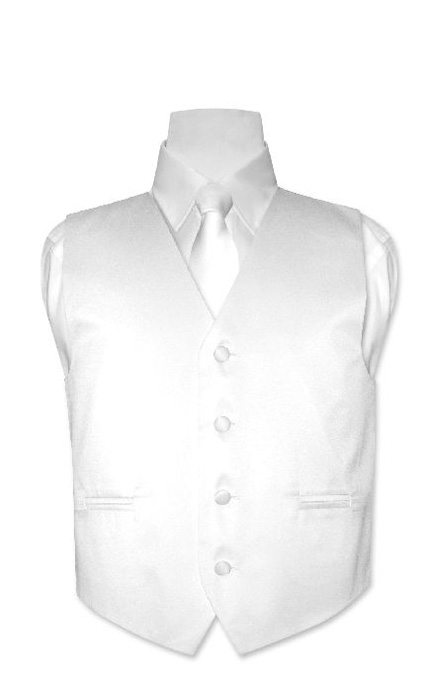 Boys-WHITE-Dress-Vest-with-Boys-Bowtie-Tie-Size-6-NEW
