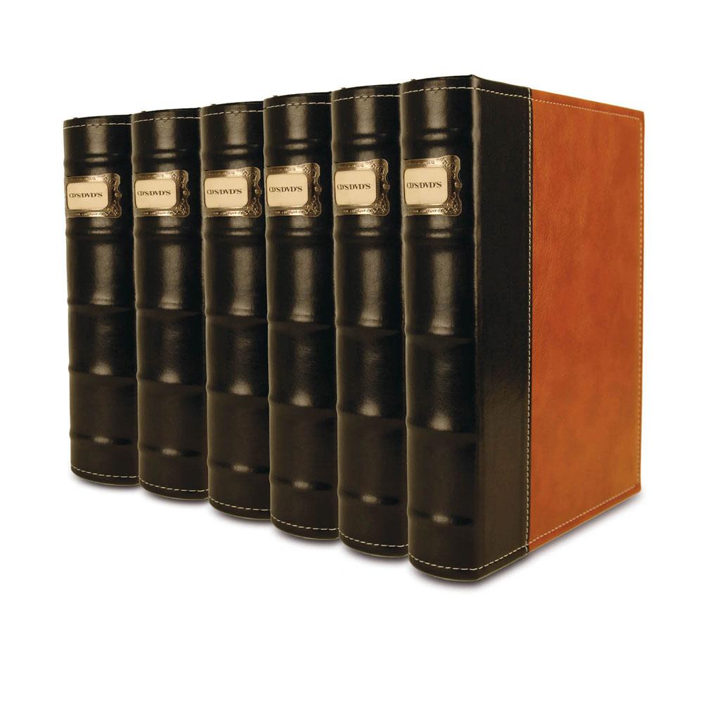 Handstands 6 CD/DVD Storage Binders(Brown)