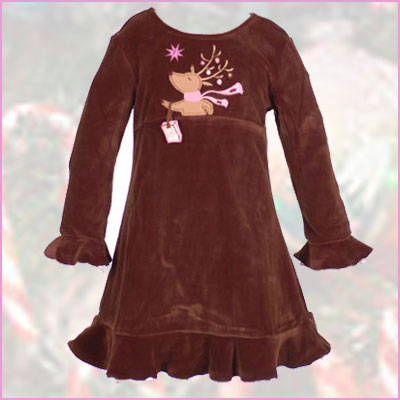 Click here for the Reindeer Dress by Sweet Potatoes at SophiasStyle.