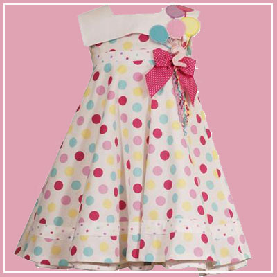 Click here for the Rare Editions dots birthday dress at SophiasStyle.com girls clothing store.