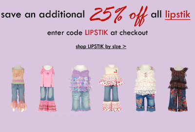 Save 25% on Lipstik clothing at SophiasStyle