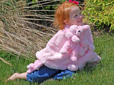 Click here for Vacation-Friendly Pink Poodle Poncho Set from SophiasStyle