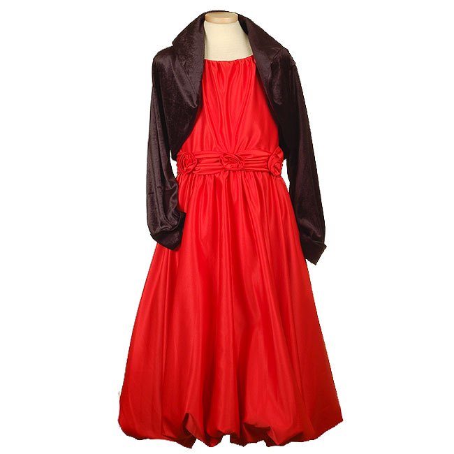 Plus size christmas dress with black bolero for your plus size girl