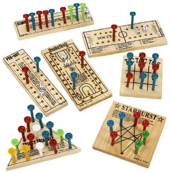 peg board game instructions