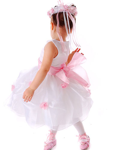 Wedding Flower Girl Dresses on Wedding Accessories Ideas  Pink Flower Girl Dresses