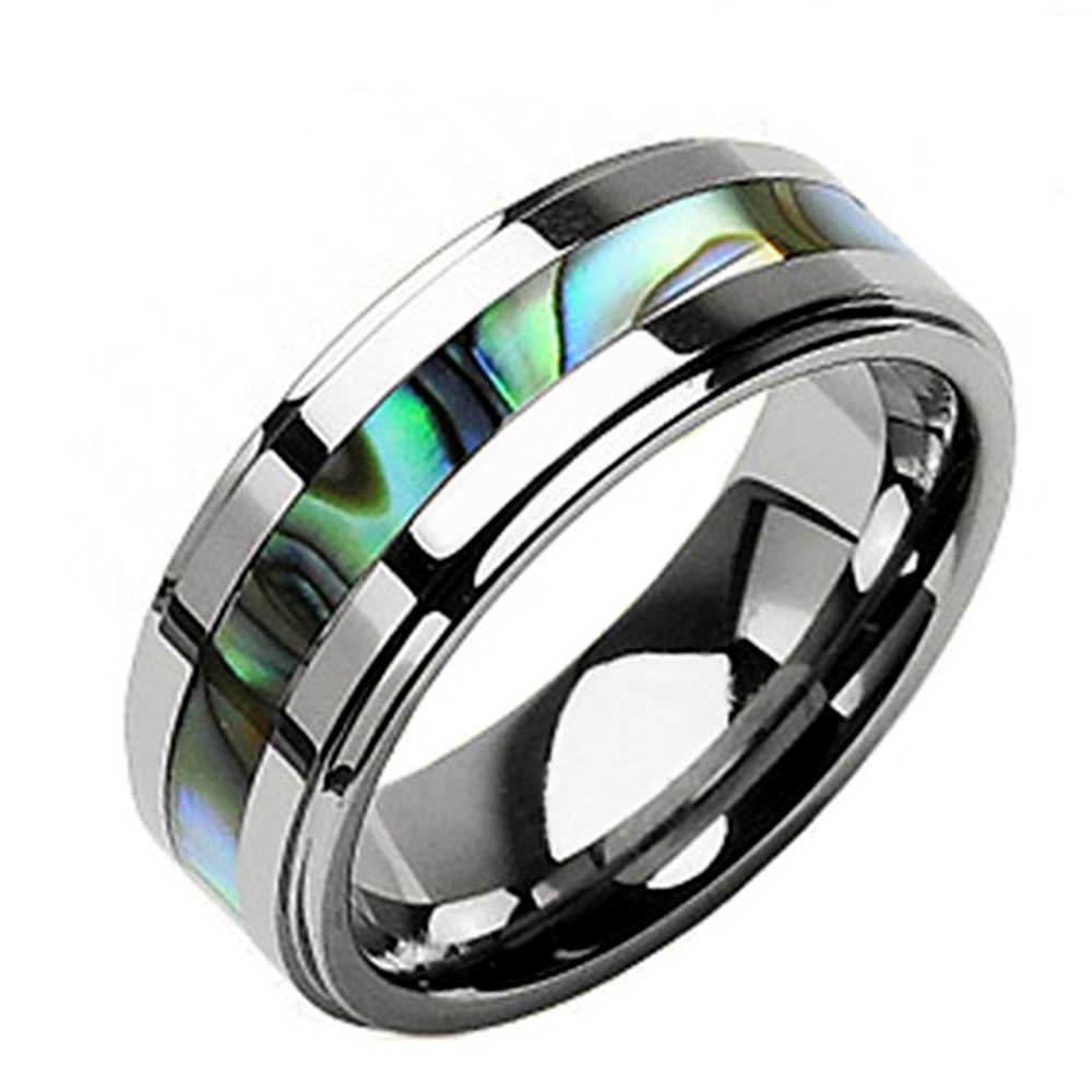 Permalink to Tungsten Ring Diamond Inlay