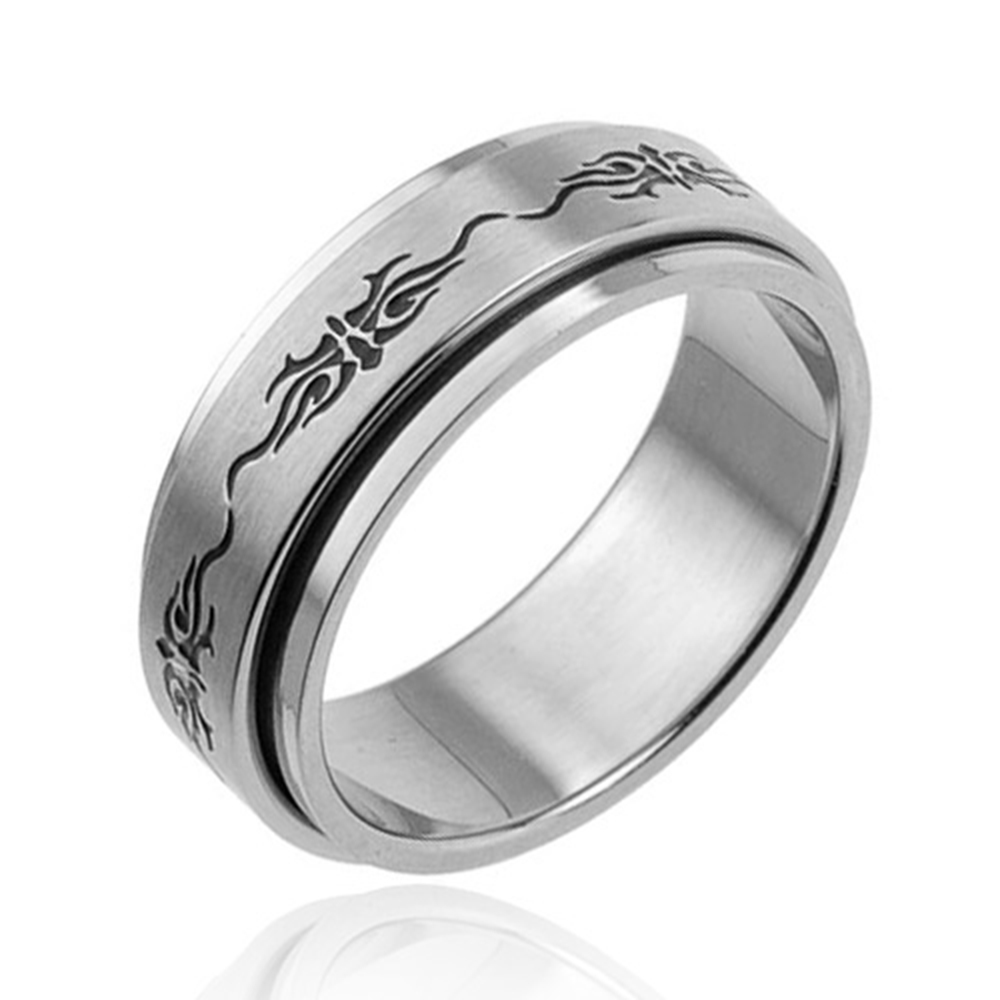 stainless steel band spinning mens wedding new ring new
