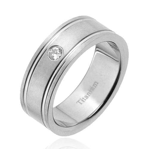 details about new mens titanium ring cubic zirconia wedding band