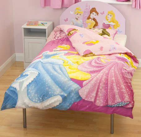 Estructura cama ni a infantil disney princesas con funda - Camas infantiles de princesas ...