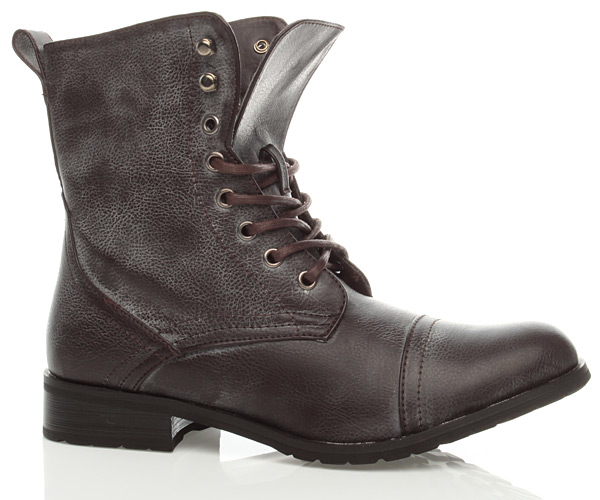Wonderful WOMENS BROWN COMBAT MILITARY WORK ARMY BOOTS SIZE   EBay