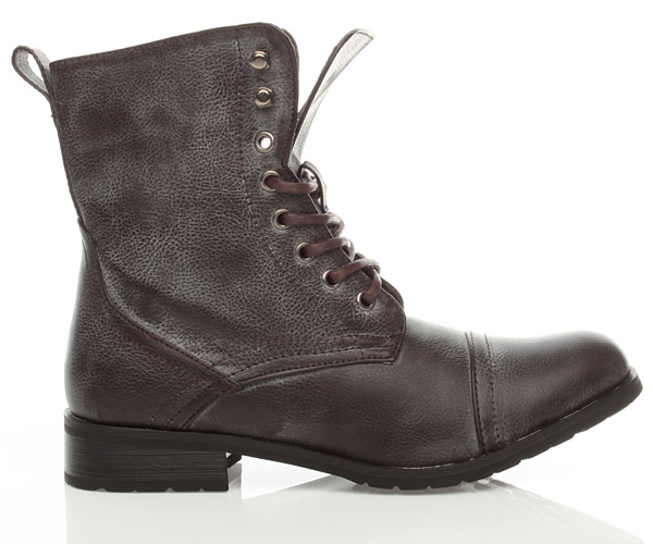 Simple WOMENS BROWN COMBAT MILITARY WORK ARMY BOOTS SIZE   EBay
