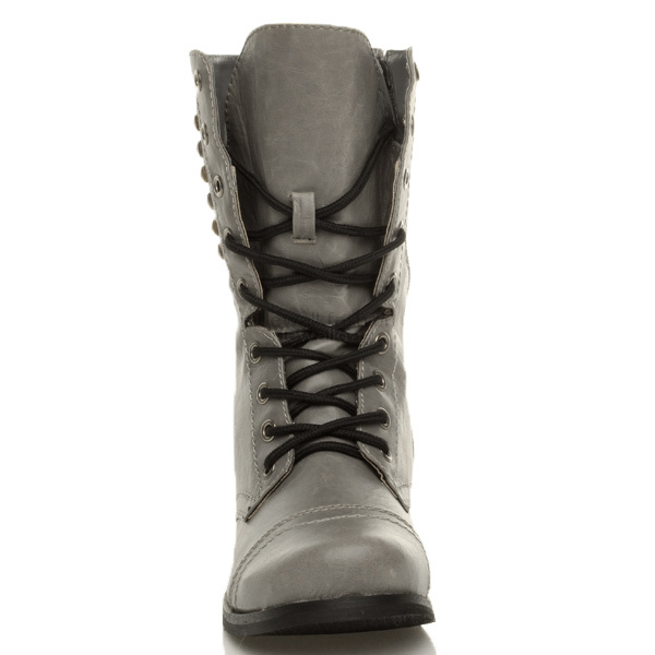 Brilliant Amazoncom Hot Womens Riding AnkleHigh Gray Combat Boots Shoes
