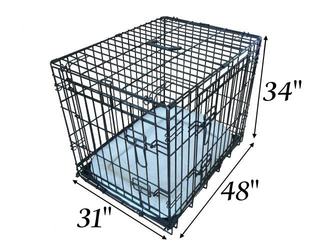 Details about ALL SIZES - Dog Puppy Pet Cage Folding Carrier Crate