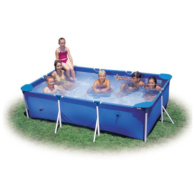 Intex 3m x 2m rectangular metal frame swimming pool ebay for Swimmingpool 3m