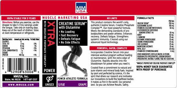 MMUSA Xtra Creatine Serum With Glutamine - Strawberry - 5.1 fl oz