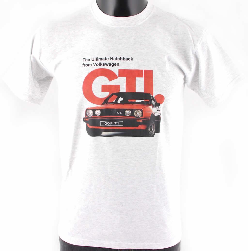 volkswagen vw golf gti mk2 car grey cotton t shirt ebay. Black Bedroom Furniture Sets. Home Design Ideas