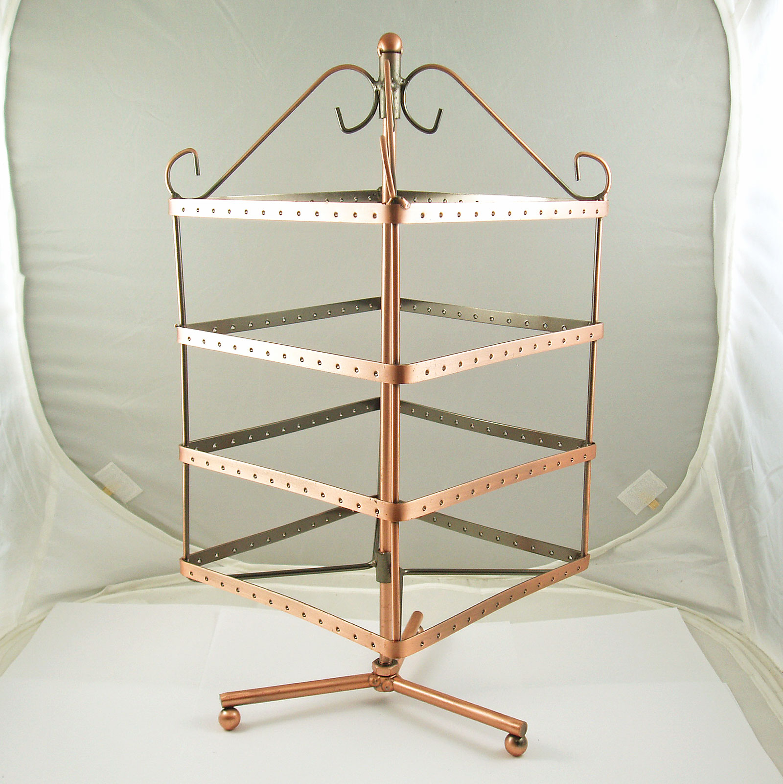 Large Revolving Metal Earring Jewellery Display Stand Ebay