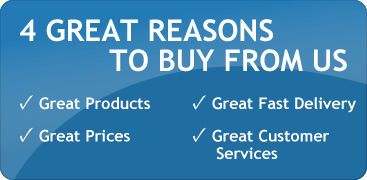 4 Great Reasons to buy from us - products, prices, service and delivery