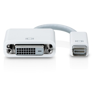 Адаптер Mini DVI to DVI Adapter M9321G/B - адаптер позволяет подключить внешний DVI-монитор к iMac (Intel Core Duo)...