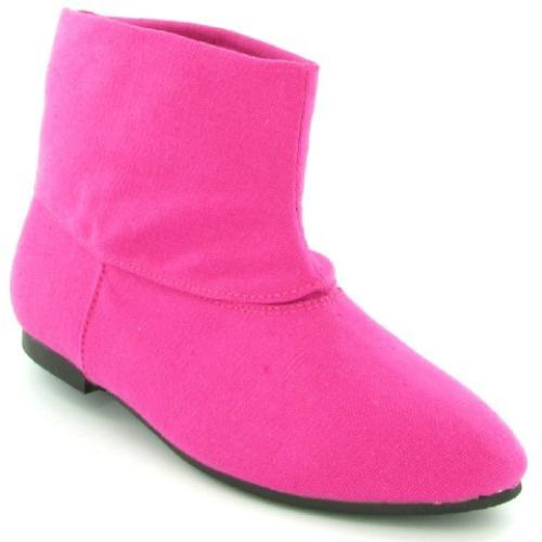 Pink Flat Ankle Boots Random Flat Ankle Boots