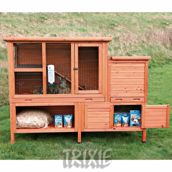 Rabbits as pets outdoor for Outdoor bunny hutch