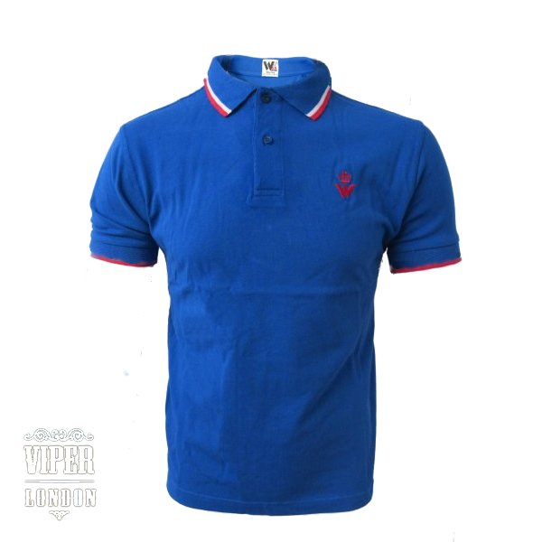 Warrior clothing blue polo shirt chest logo xs xxxl ebay for What stores sell polo shirts
