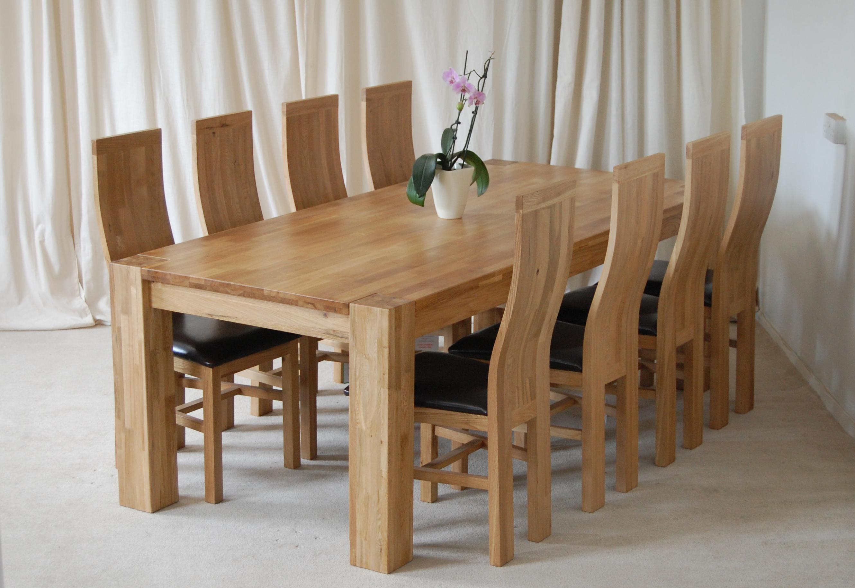 Ashley 2 2m x 1m oak dining table 8 chairs c28 ebay for Esstisch 2m x 1m