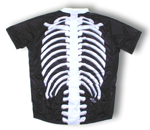 bone2bwild skeleton 3X cycling jersey