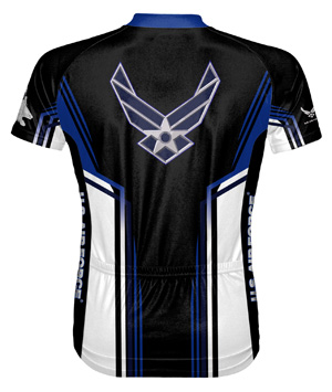 USAF Air Force Team cycling jersey - back
