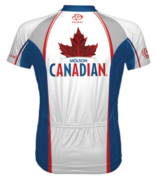 Primal Wear Molson Canadian beer cycling jersey