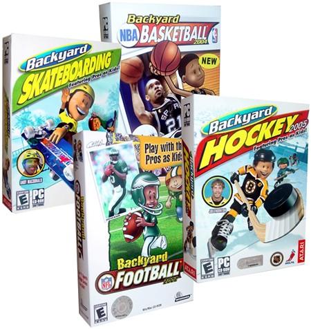NEW Backyard Basketball Hockey Football PC 4 Game LOT ...